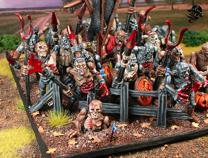 Zombie regiment using Games Workshop figures