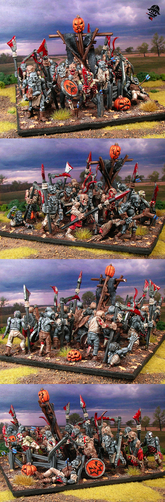 Undead Zombies for Kings of War from Games Workshop painted by Neldoreth - An Hour of Wolves & Shattered Shields