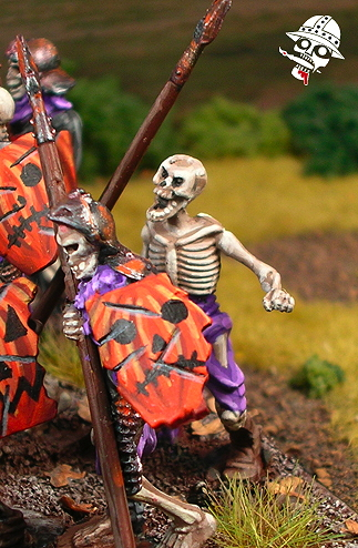 Undead Skeletons from Mantic Miniatures painted by Neldoreth - An Hour of Wolves & Shattered Shields
