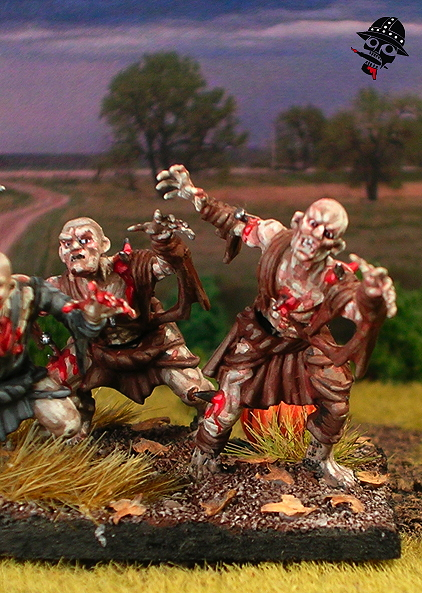 Undead Ghouls from Mantic Miniatures painted by Neldoreth - An Hour of Wolves & Shattered Shields