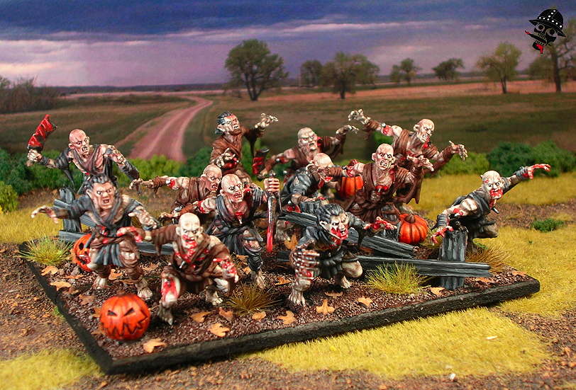 Mantic Ghoul regiment complete!