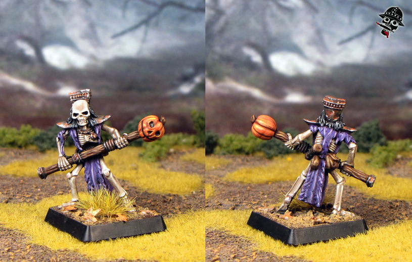 Skeleton Magician from Heartbreaker Miniatures painted by Neldoreth - An Hour of Wolves & Shattered Shields