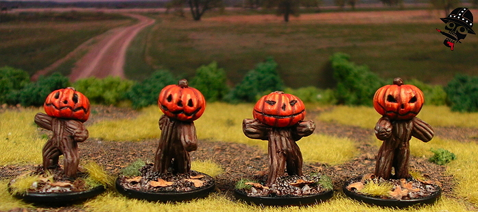 My alternative undead rats - pumpkin constructs!
