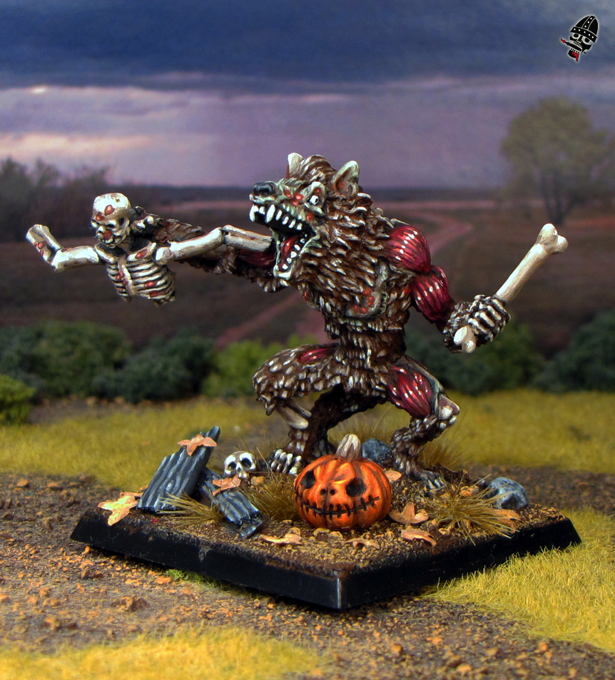 Zombie Werewolf from Reaper Miniatures painted by Neldoreth - An Hour of Wolves & Shattered Shields