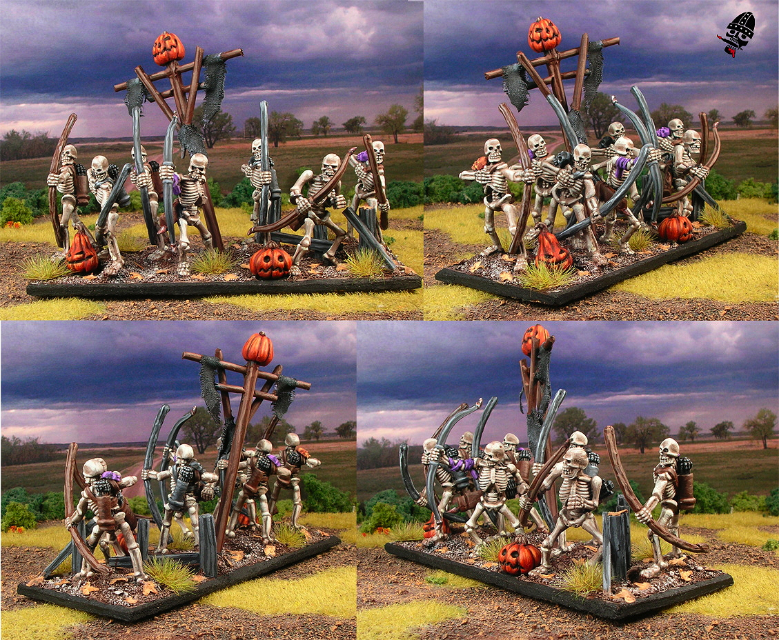 Undead skeleton archers from mostly Reaper with a few Games Workshop figures painted by Neldoreth - An Hour of Wolves & Shattered Shields
