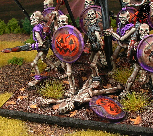 Undead skeleton spearmen from Reaper Miniatures painted by Neldoreth - An Hour of Wolves & Shattered Shields