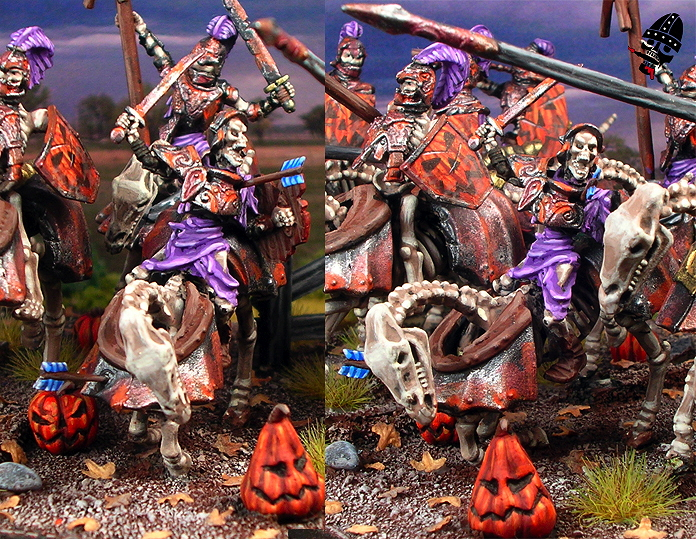 Undead mounted skeleton Revenant or Grave Guard in crashing pose from Games Workshop and Mantic Games painted by Neldoreth - An Hour of Wolves & Shattered Shields
