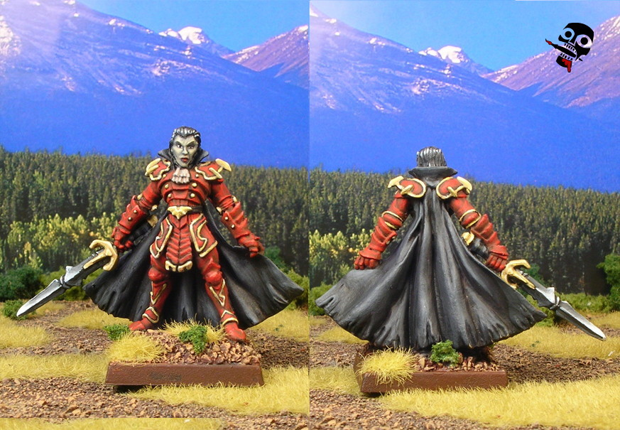 Armoured Vampire from Reaper Miniatures painted by Neldoreth - An Hour of Wolves & Shattered Shields