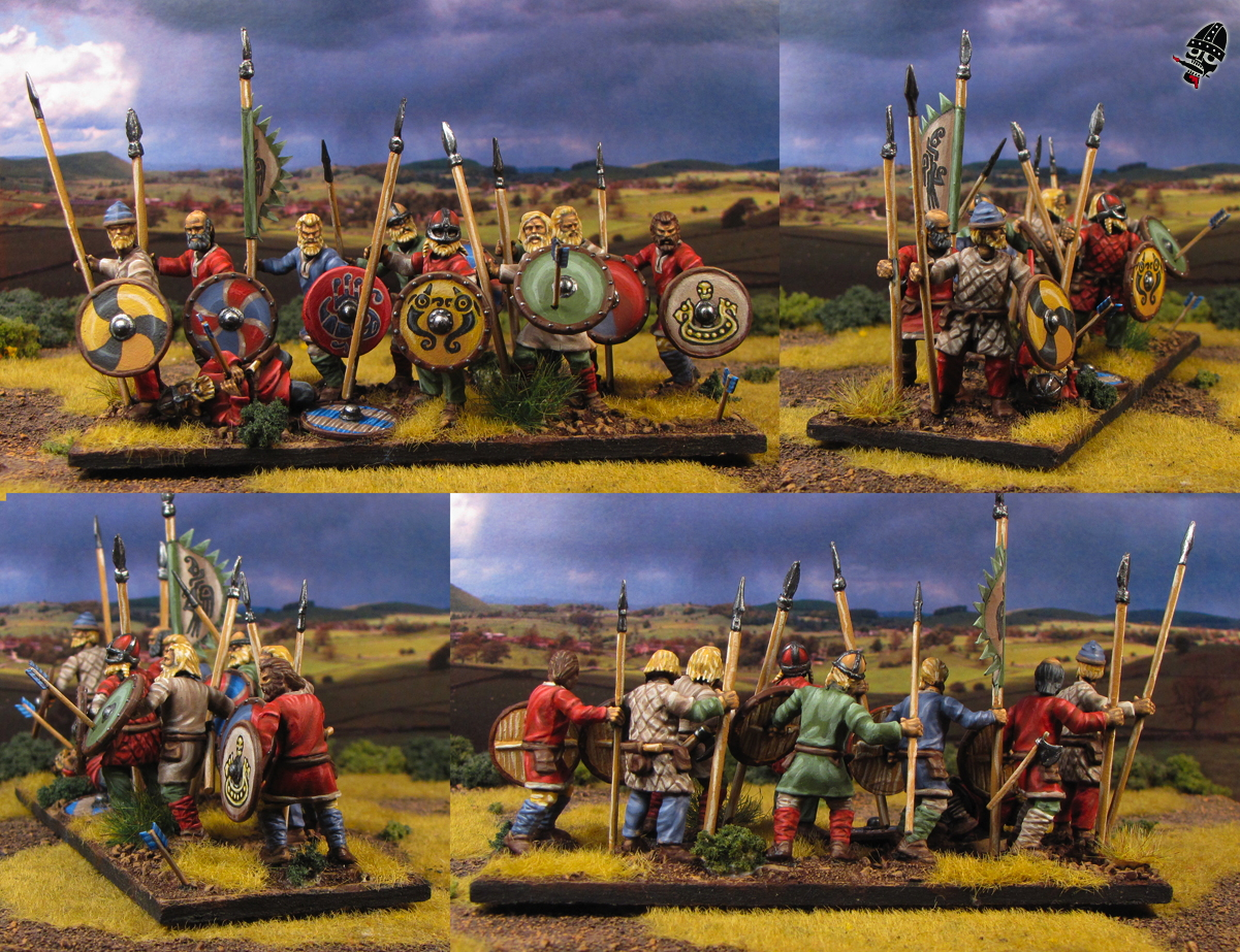Viking bondi from Wargames Factory painted by Neldoreth - An Hour of Wolves & Shattered Shields