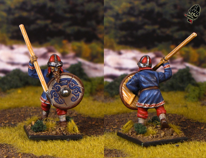 Viking Leidang or Bondi or Levy from Gripping Beast painted by Neldoreth - An Hour of Wolves & Shattered Shields