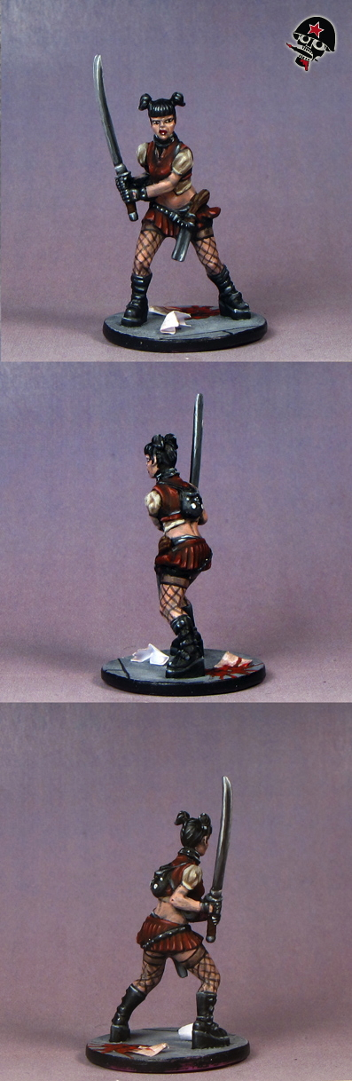 Amy, Zombicide survivor from Cool Mini or Not painted by Neldoreth - An Hour of Wolves & Shattered Shields