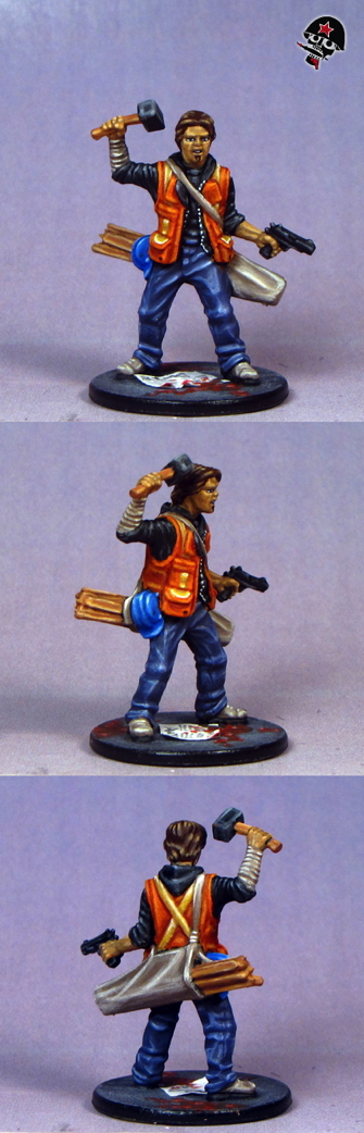 Derek, Zombicide survivor from Cool Mini or Not painted by Neldoreth - An Hour of Wolves & Shattered Shields