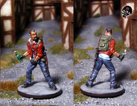 Joe, Zombicide survivor from Cool Mini or Not painted by Neldoreth - An Hour of Wolves & Shattered Shields