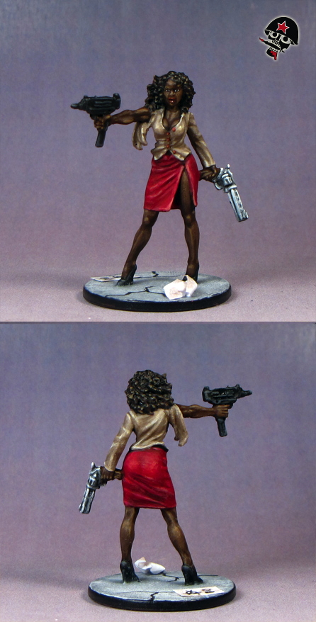 Neema, Zombicide survivor from Cool Mini or Not painted by Neldoreth - An Hour of Wolves & Shattered Shields