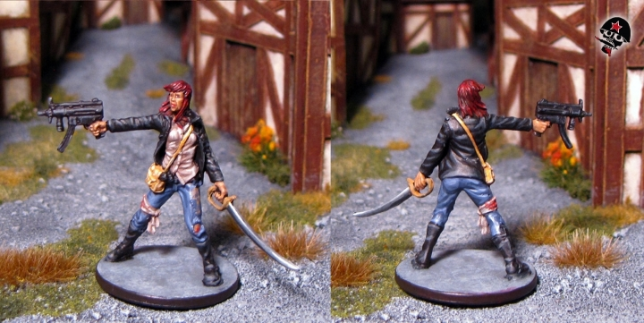 Parker, Zombicide survivor from Cool Mini or Not painted by Neldoreth - An Hour of Wolves & Shattered Shields