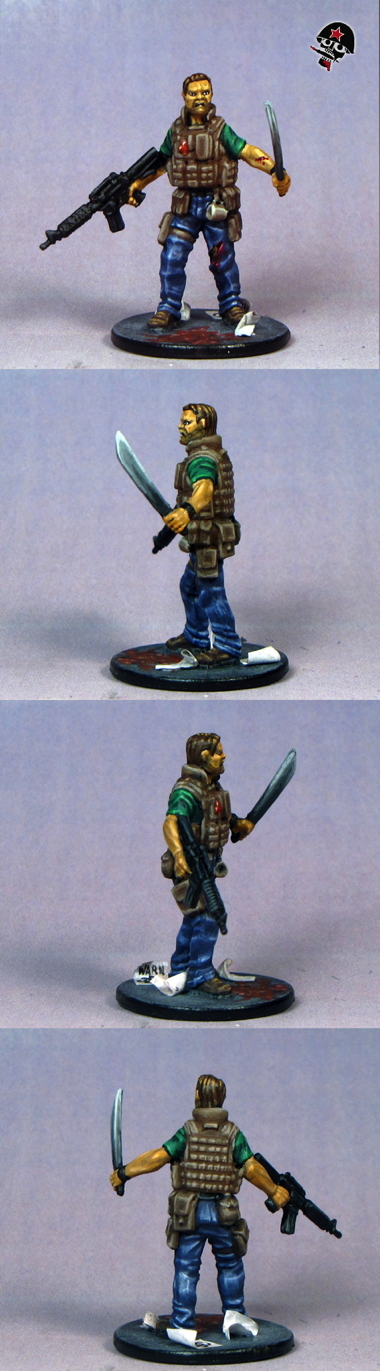 Raoul, Zombicide survivor from Cool Mini or Not painted by Neldoreth - An Hour of Wolves & Shattered Shields