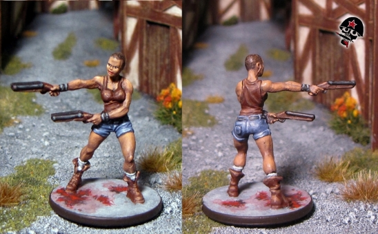 Shannon, Zombicide survivor from Cool Mini or Not painted by Neldoreth - An Hour of Wolves & Shattered Shields