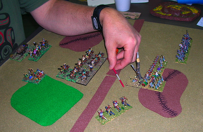 The Huns fo battle with an East Roman army