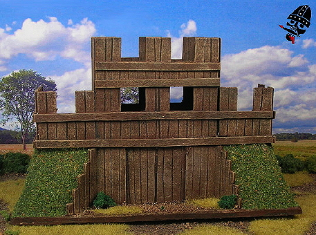 15mm Wooden Palisade DBA camp