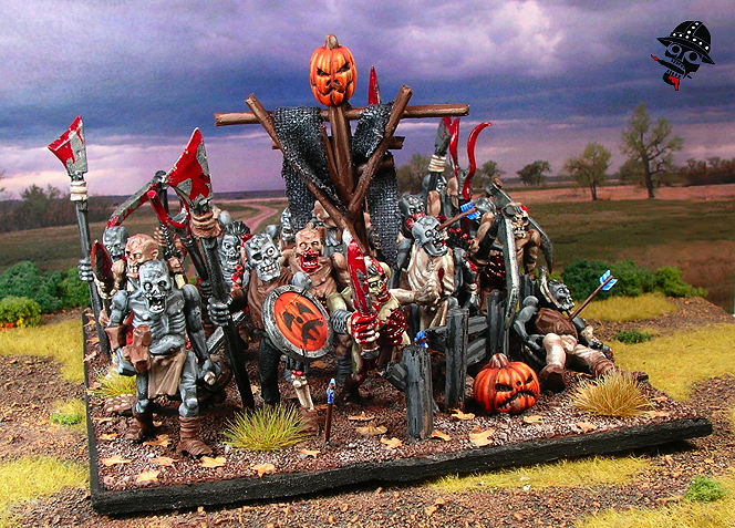 Undead zombie regiment using Games Workshop figures